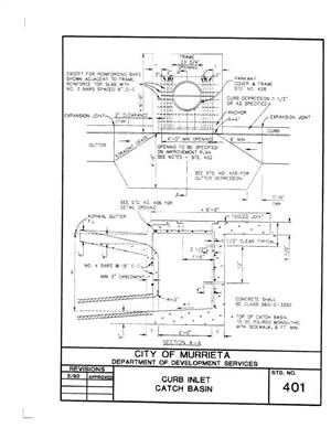 402 curb inlet catch basin specifications