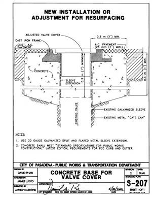 Long Beach Iron Works : Agency Standard Plan Drawings