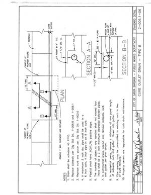 Long beach iron works agency standard plan drawings for Outlet b b